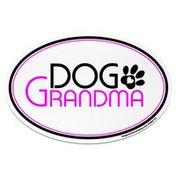 Imagine This Dog Grandma Oval Car Magnet