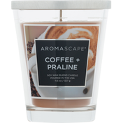 Aromascape Candle, Soy Wax Blend, Coffee & Praline