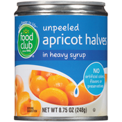 Food Club Unpeeled Apricot Halves In Heavy Syrup