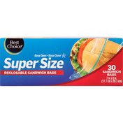 Best Choice Super Size Extra Large Reclosable Sandwich Bags
