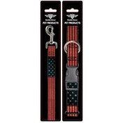 Buckle-Down Medium American Flag Dog Leash & Collar Set