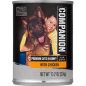 Companion Premium Cuts in Gravy Dog Food with Chicken