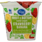Kroger Yogurt, Lowfat, Strawberry Banana