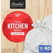 Essential Everyday Kitchen Bags, Tall, Flap Top
