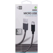 Case Logic Charge and Sync Cable, Micro USB, Braided, 10 Feet