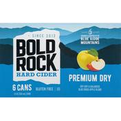Bold Rock Hard Cider, Premium Dry, 6 Pack