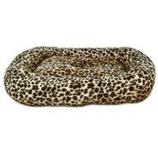 "Harmony 19"" x 16"" Cheetah Print Rectangular Cat Bed"