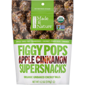 Made in Nature Organic Figgy Pops Apple Cinnamon Supersnacks
