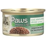 Paws Happy Life Cod, Sole & Shrimp Dinner Classic Cat Food