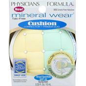 Physicians Formula Corrector + Primer Duo, Cushion, Corrector Primer Yellow/Green 6835, Broad Spectrum SPF 20