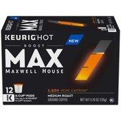Maxwell House MAX Boost by 1.5x Caffeine Medium Roast Ground Coffee K-Cup Pods