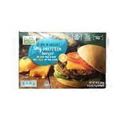 Earth Grown Soy Based Veggie Protein Burger With Cheese And Grill Flavor