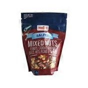 Meijer SALTED ROASTED MIXED NUTS peanuts, almonds, cashews, brazil nuts & pecans WITH SEA SALT