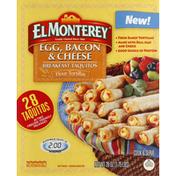 El Monterey Taquitos, Flour Tortillas, Egg, Bacon & Cheese