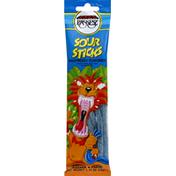 Paskesz Sour Sticks, Raspberry Flavored