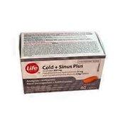 Life Brand Cold & Sinus Plus Caplets