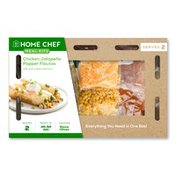 Home Chef Chicken Jalape�o Popper Flautas With Sour Cream And Corn