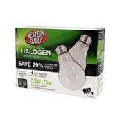 Western Family 53 Watts Halogen Light Bulbs