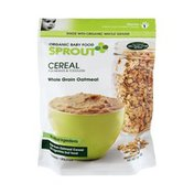 Sprout Organic Baby Food Whole Grain Oatmeal Cereal For Infants & Toddlers
