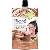 Bioré Rose Quartz + Charcoal Stress Relief Clay Mask