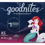 GoodNites Bedwetting Underwear for Girls, XS