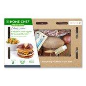 Home Chef Cheddar And Apple Brewpub Burger