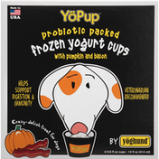 YoPup Treat for Dogs, with Pumpkin and Bacon, Frozen
