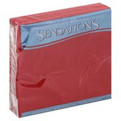 Sensations Napkins, Beverage, Classic Red, 2-Ply