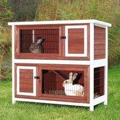 Trixie Medium Brown & White 2-Story Rabbit Hutch