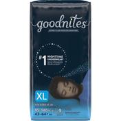 GoodNites Boys' Nighttime Bedwetting Underwear, XL (95-140 lb.)