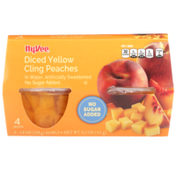 Hy-Vee Sweetened Diced Yellow Cling Peaches In Water