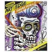 Crayola Coloring Pages, Art with Edge, Sugar Skulls