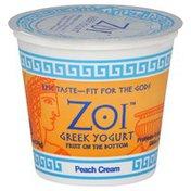 Zoi Greek Yogurt Yogurt, Greek, Fruit on the Bottom, Peach Cream