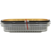 First Street Gourmet Container, Aluminum, Black & Gold, Small, 22 Ounce