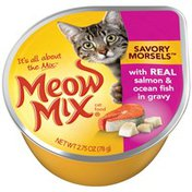 Meow Mix Savory Morsels with Real Salmon & Ocean Fish in Gravy Wet Cat Food