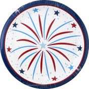 Party Creations Plates, Fireworks, 6-7/8 Inch