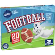 Pillsbury Football Sugar Cookies, 20 Count
