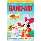 Band Aid Brand Adhesive Bandages Featuring Disney Jake And The Never Land Pirates, Assorted Sizes