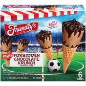 Friendly's Mini Forbidden Chocolate Krunch Sundae Cone Ice Cream Cones