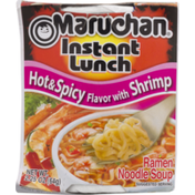 Maruchan Instant Lunch, Hot & Spicy Flavor with Shrimp