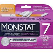 MONISTAT Vaginal Cream, Antifungal, Combination Pack