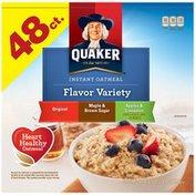Quaker Flavor Variety Original/Maple & Brown Sugar/Apples & Cinnamon Instant Oatmeal
