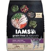 IAMS Grain Free Naturals Chicken + Turkey Adult  Cat Food