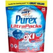 Purex Liquid Detergents UltraPacks plus Oxi & Zout Stain Removers Laundry Detergent