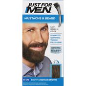 Just For Men Haircolor Kit, Mustache & Beard, Light-Medium Brown M-30