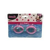 Disney Pink & Aqua Minnie Mouse Kids Girls Splash Swim Googles