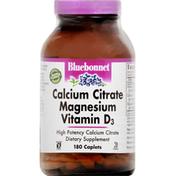 Bluebonnet Calcium Citrate Magnesium Vitamin D3, Caplets