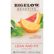 Bigelow Benefits Lean and Fit Citrus & Oolong Tea