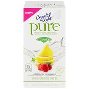 Crystal Light Raspberry Lemonade Naturally Flavored Powdered Drink Mix with No Artificial Sweeteners