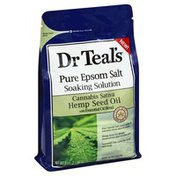 Dr. Teal's Pure Epsom Salt, Cannabis Sativa Hemp Seed Oil